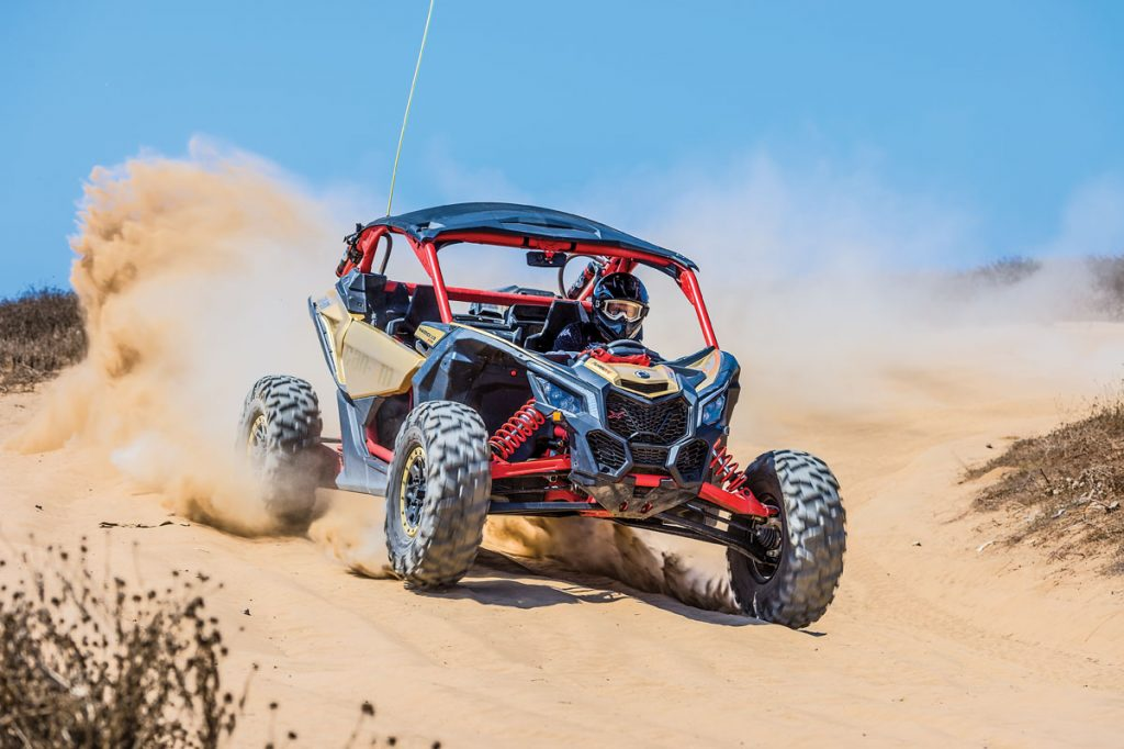 The Can-Am X3 obliterates corners in a heartbeat. The cornering capabilities came from a lot of great design work and hours of test sessions from Can-Am. It's simply a great UTV!