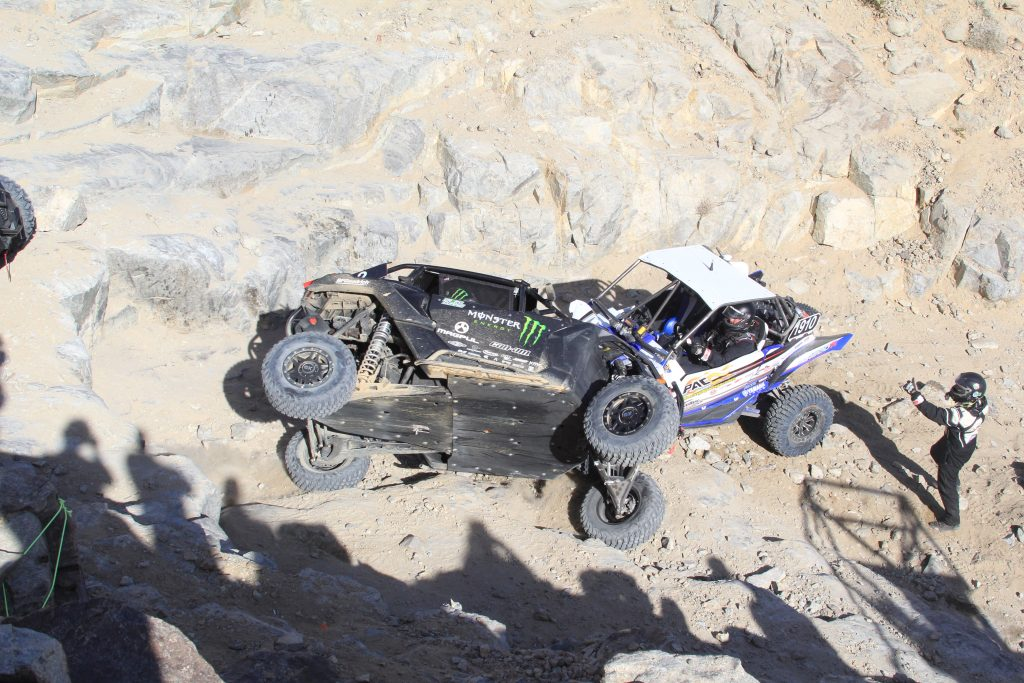 It is common to see roll overs and broken parts during the race, and everyone came out ok.