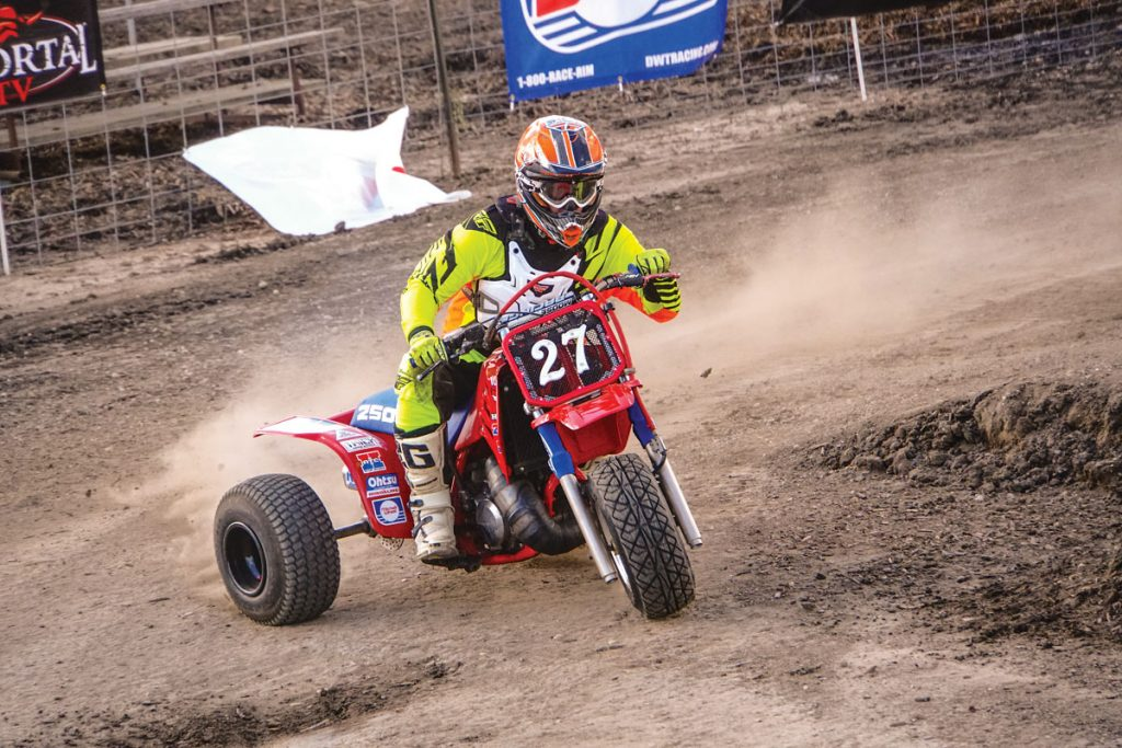 One of the coolest classes is the Three-Wheeler class. They use much more body English than the ATV racers, and most of them laid down some very impressive lap times.