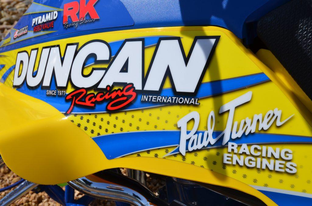 Duncan Racing _2017 SUZ LT500 Graphic Kit-CloseUp
