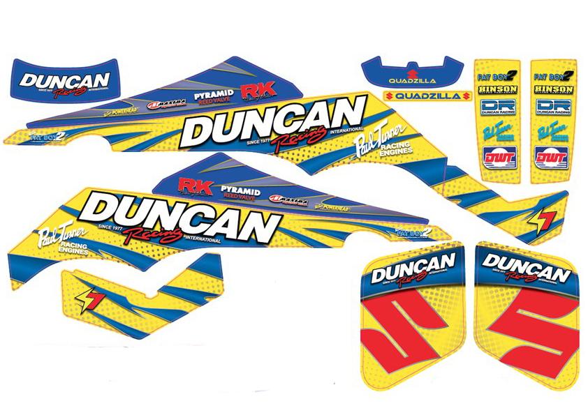 Duncan Racing _2017 SUZ LT500 Graphic Kit-Full Layout