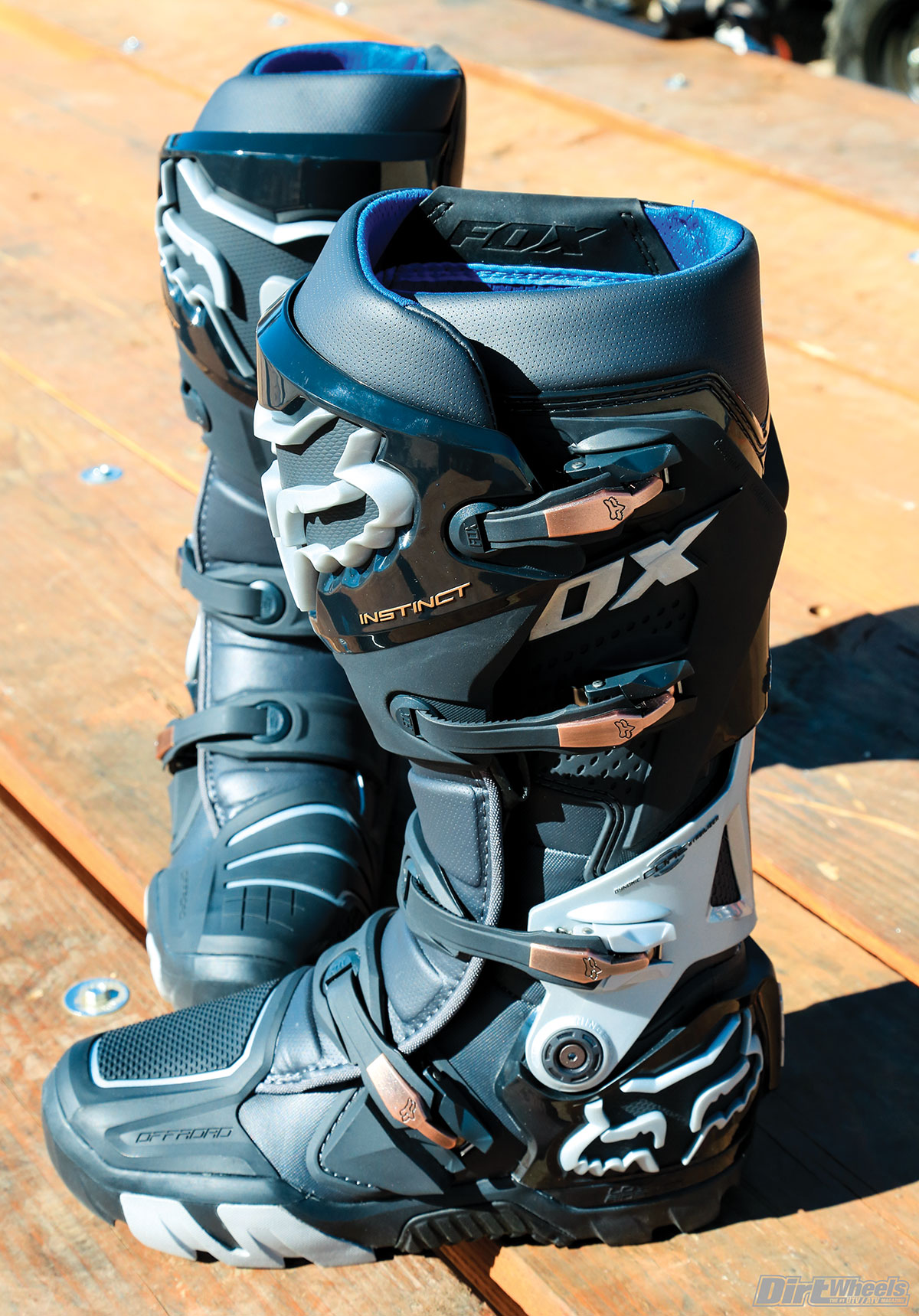 The Fox Instinct Offroad boots need some break-in time, but after that they are comfortable and very durable with a great look to them. The buckle system is easy to use.