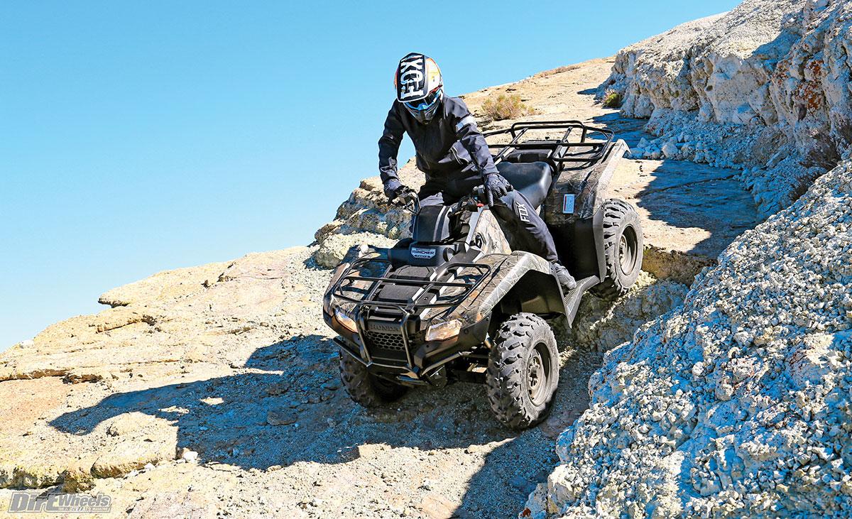 ATV TEST: HONDA RANCHER 4x4 AUTO DCT IRS EPS | Dirt Wheels