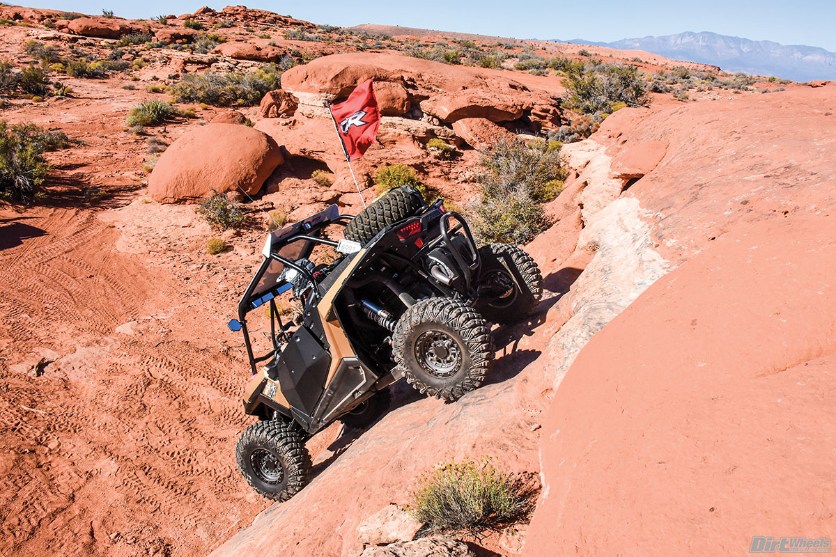 It isn't just the climbs that are thrilling. There are some heart-stopping drops as well. You better be in 4WD and give it a little gas when the front wheels touch here.
