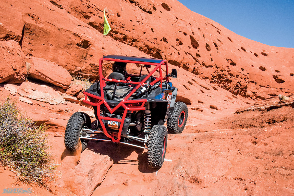 Some of the most technical sections also provide the most outstanding scenery as well. Southern Utah has surreal rock terrain in abundance.