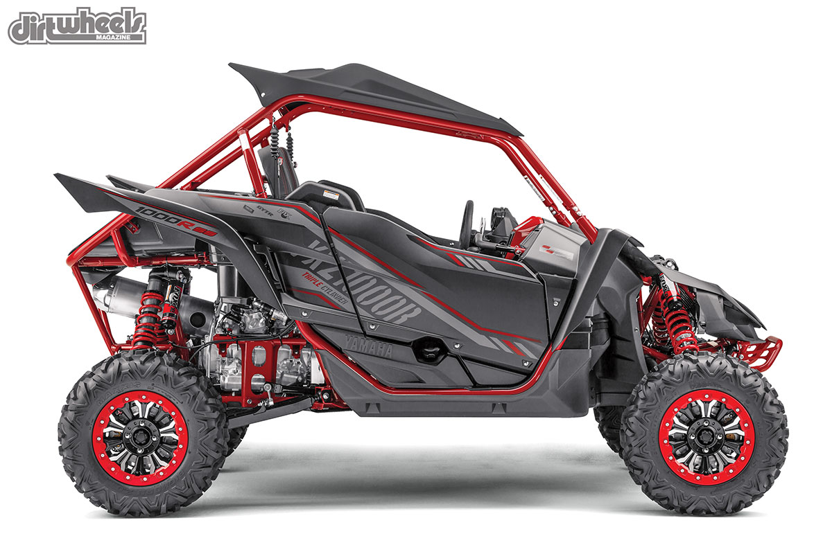 Yamaha's YXZ1000R Special Editions have Flat Black plastic where the chassis has a Metallic Red paint that really makes it pop. It also comes stock with beadlock wheels, a black plastic roof and Maxxis Big Horn 2.0 tires.