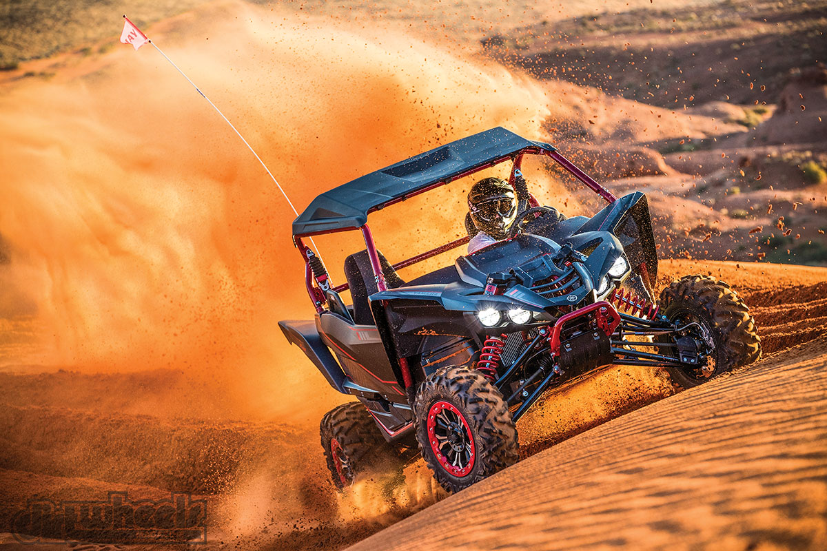 Fast dune sections are no match for the YXZ. It redlines at 10,500 rpm, and that's exactly where it likes to be driven.