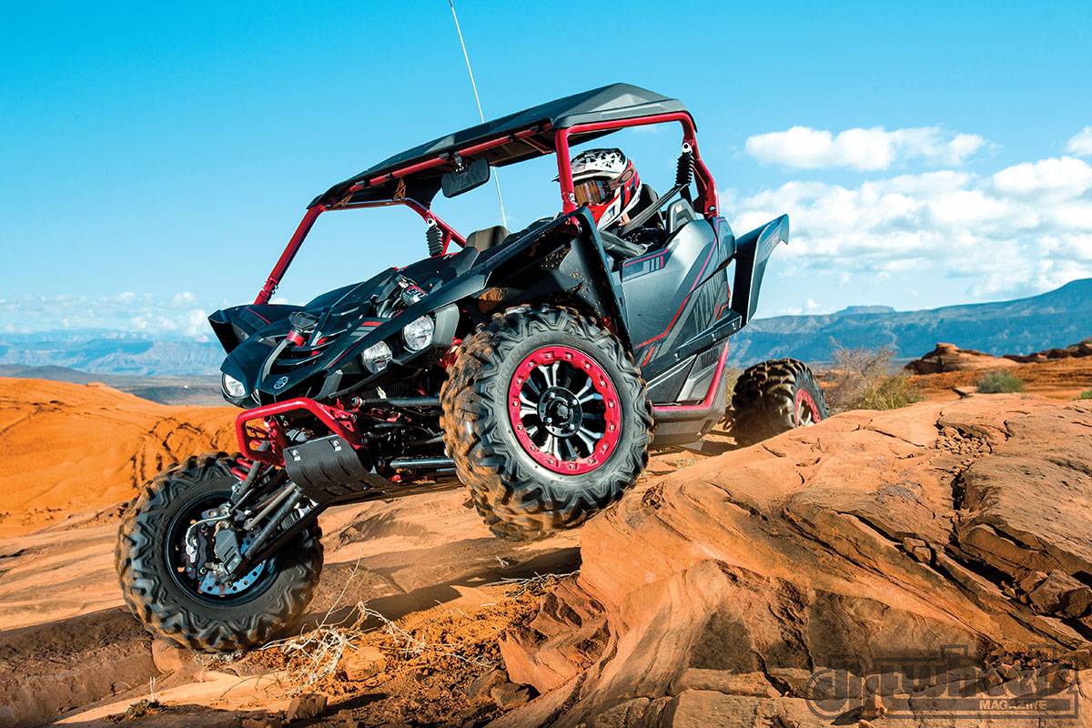 The YXZ does well in the rocks. Of the two Special Editions, the Sport Shift Model works the best. Its low-speed drivability makes it fun to rock crawl.
