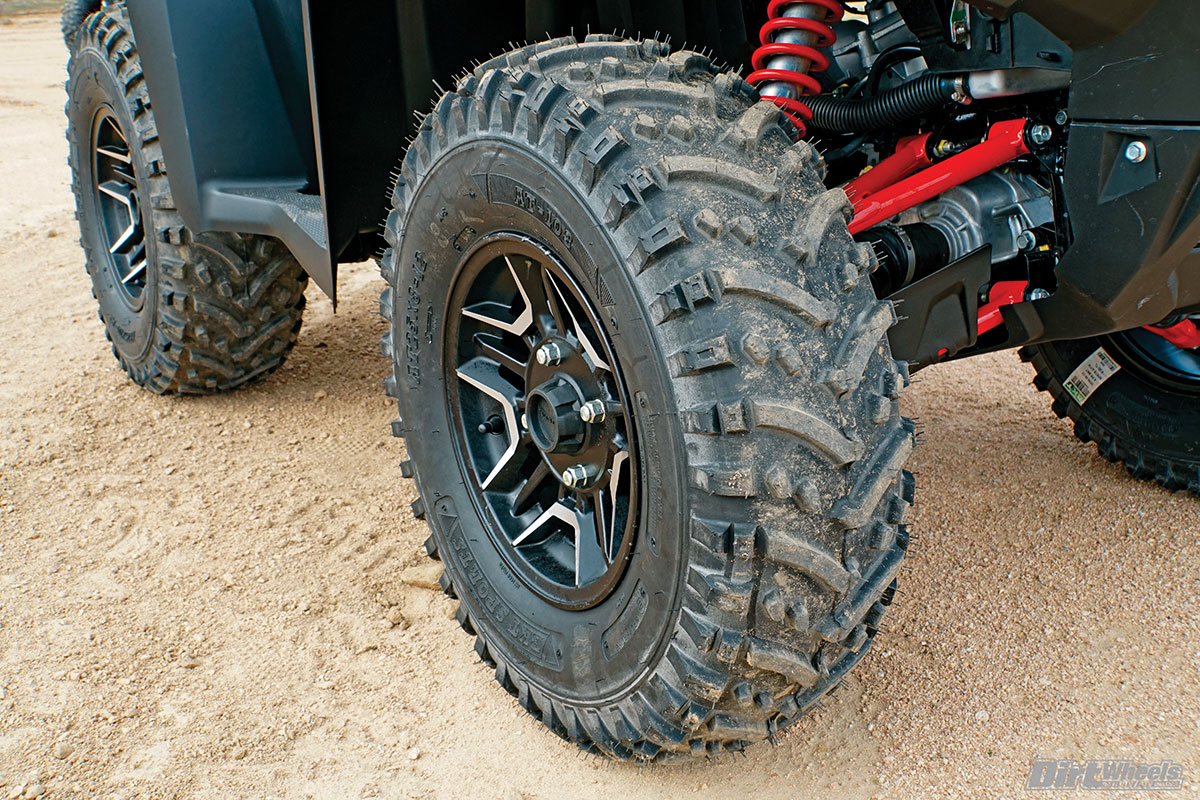 The BKT AT 108 is a six-ply tire that is designed for any terrain. It is best suited for loose rocks and hardpack, but performs well on a wide range of terrain surfaces.