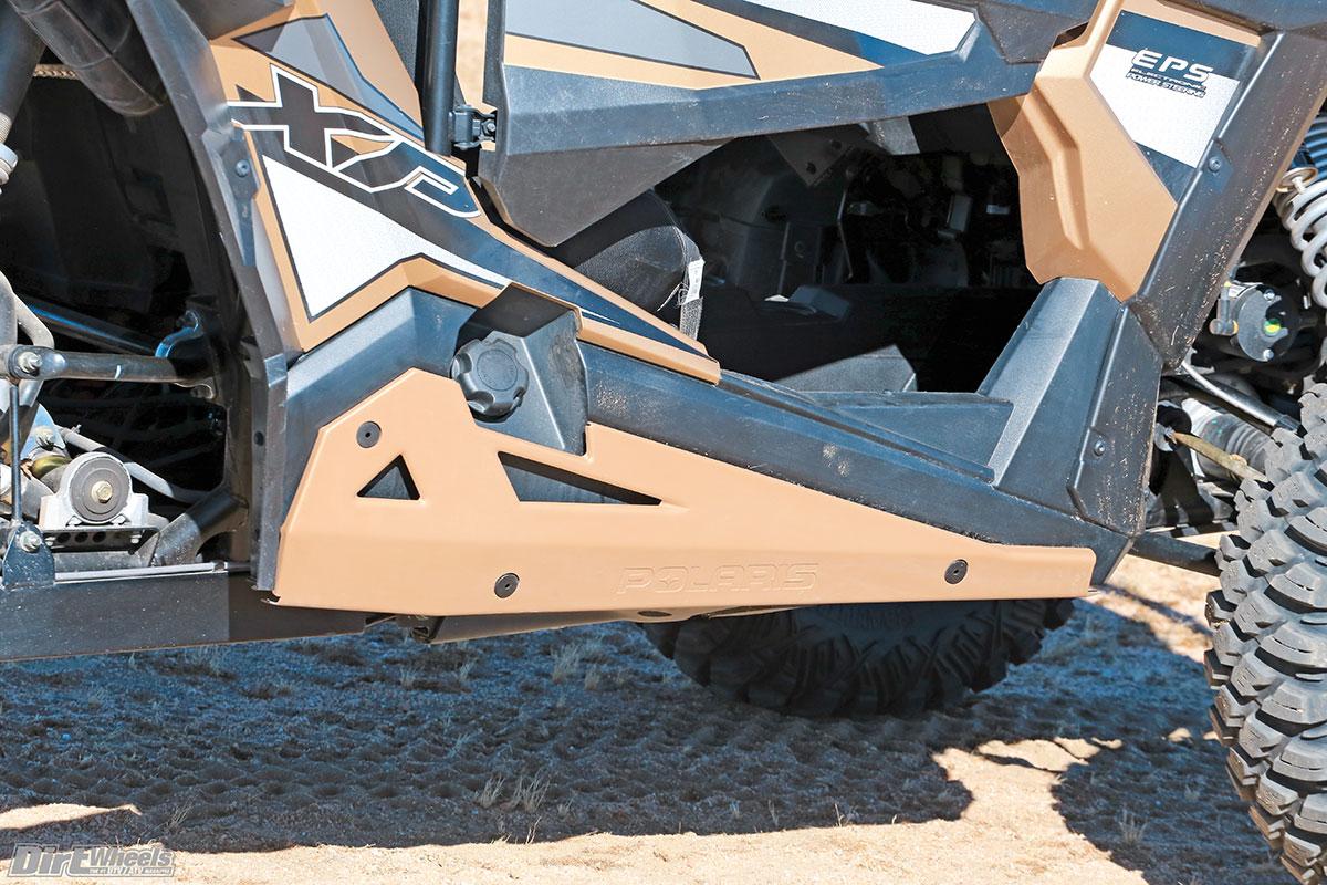 These gold rock sliders are standard, and they offer nice clearance and excellent protection.