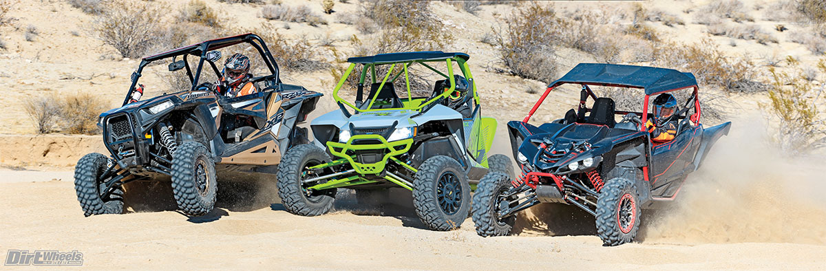 These three machines share a great deal in common—engine size, suspension travel and a high fun factor. All are high-performance machines, but they each have a very different and unique performance envelope. The Polaris rocks in rocks and technical driving; the Yamaha has the most top-end power and the chassis to use it; and the Arctic Cat flat smokes it through the rough and whoop sections.