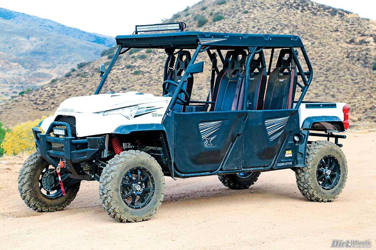 Odes didn't scrimp on comfort features. Doors, a roof, a hideaway windshield, mirrors and fantastic lights are a bonus. The driver's-seat legroom is the most we have ever experienced in a UTV.