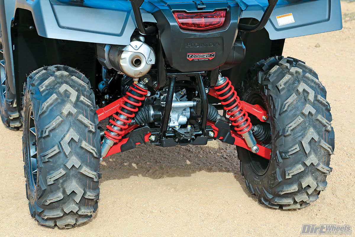 The rear uses independent suspension for a smooth ride. Each side has 8.5 inches of wheel travel.