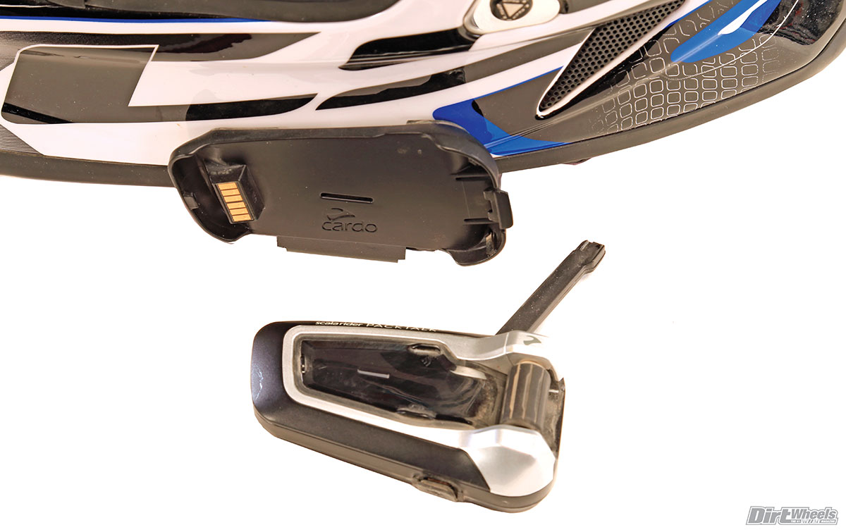 There are enough parts with the kit that you could have the mounts on three helmets ready to go. Just clip the PackTalk unit off and on the other helmet.