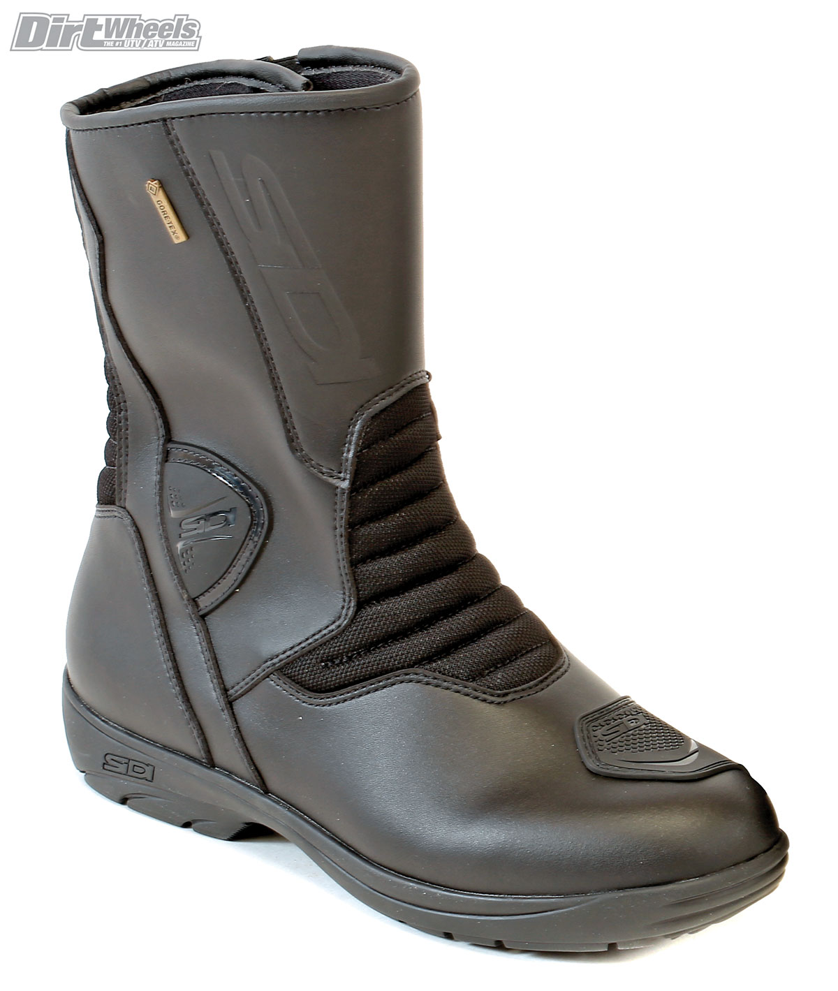 The Gavia from Sidi is made from waterproof and breathable Gore-Tex. The boot is flexible enough to drive a UTV and comfortable enough to walk in.