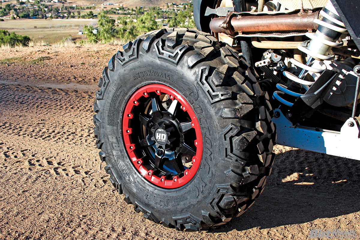 The STI HD5 beadlock wheel is strong and stylish. You can order colored beadlock rings to complement your machine.