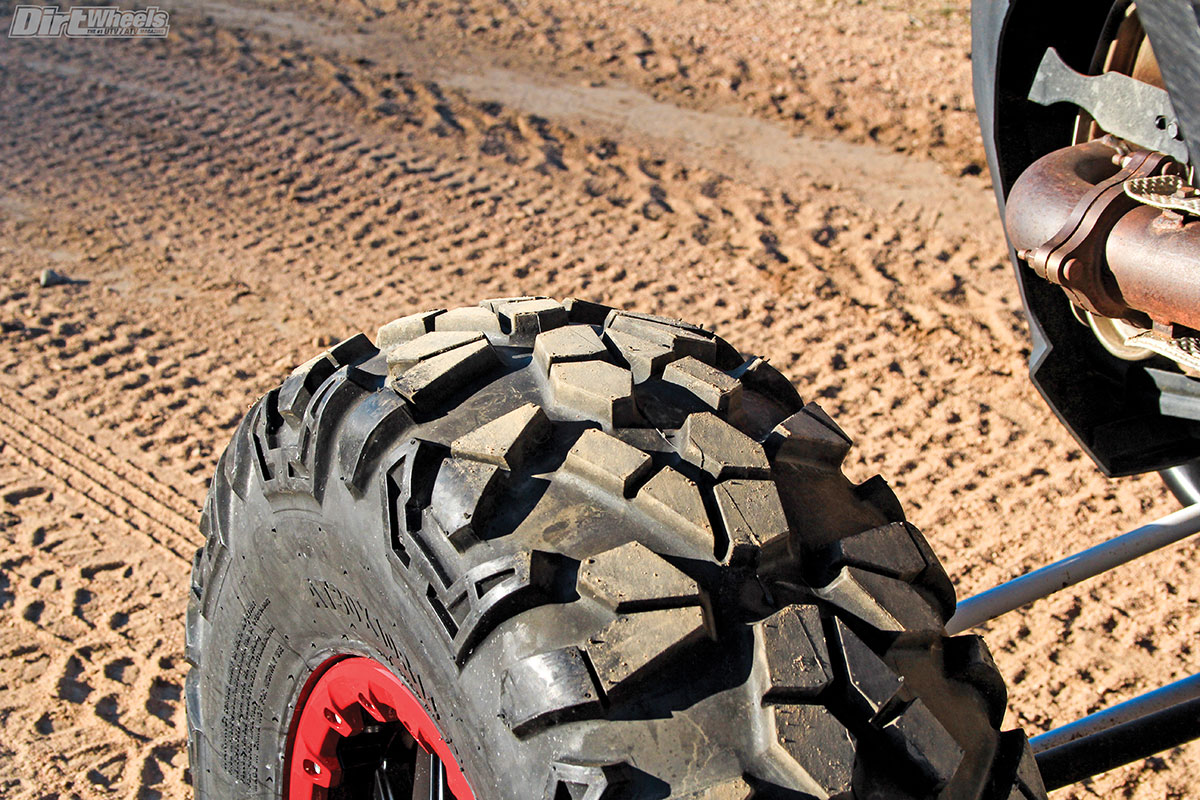 The Roctane XS tire is DOT approved, and designed for desert or hardpack terrain. It performs great in wet terrain as well.