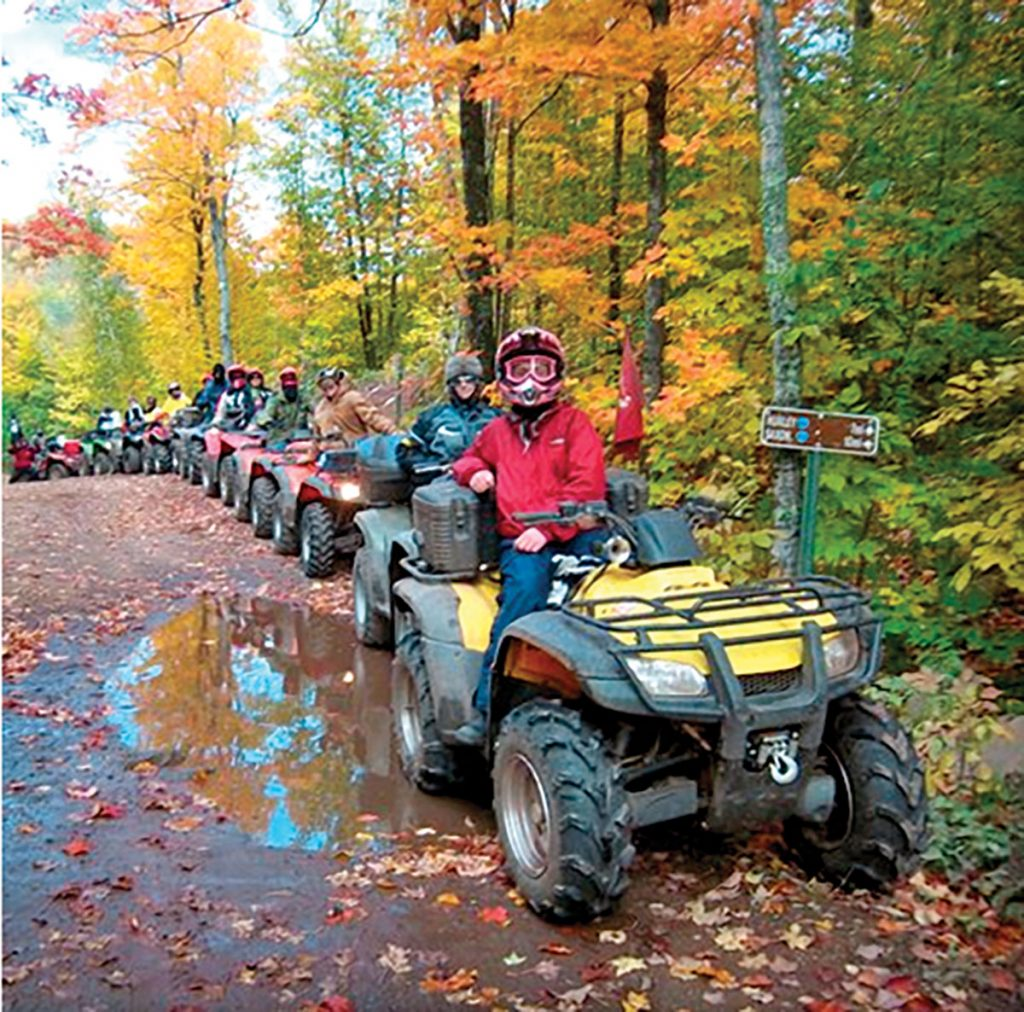 Enjoy riding and fall colors at the Pumpkin/Poker Run ATV Rally in Hurley, Wisconsin on October 5-8th, 2017.