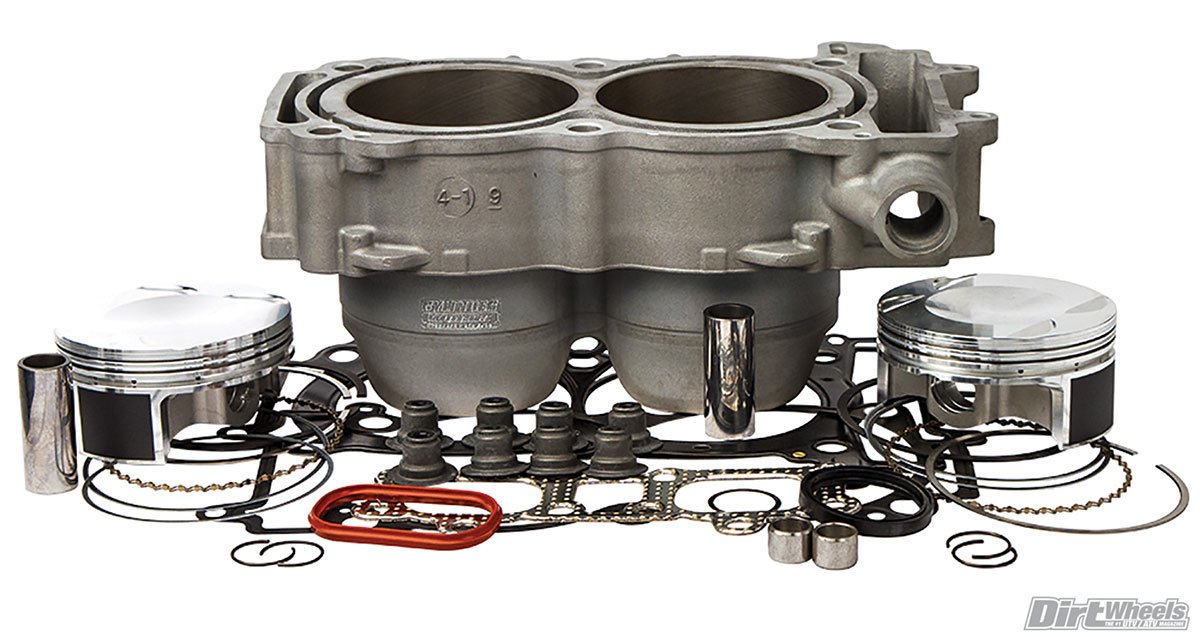 Cylinder Works' big-bore kit is quite comprehensive. It includes a new cylinder casting with a plated bore and all associated parts for 1110cc.