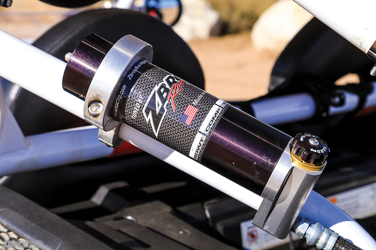 ZBroz Racing serviced the suspension, changed the valving and dialed in the spring package specifically for this machine.
