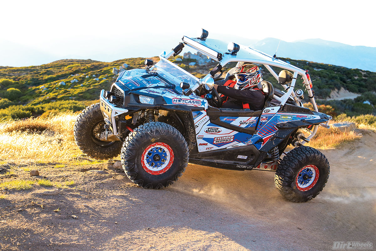 This RZR isn't just about performance. A Pro Armor cage and seats and PRP harnesses take care of safety.