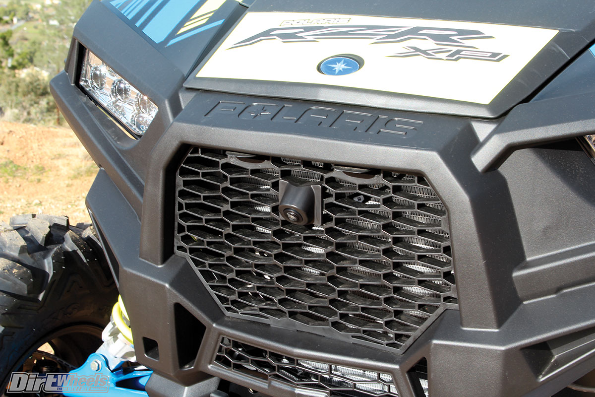 The Ride Command has a front and rear camera to help you unload and load your vehicle, reverse and see objects that are hidden by your hood on the trails.