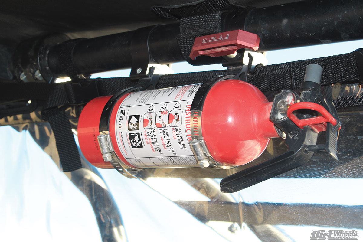 Safety is important, so we carry a fire extinguisher with us on our rides, and Assault's quick-release extinguisher kit is a perfect purchase.