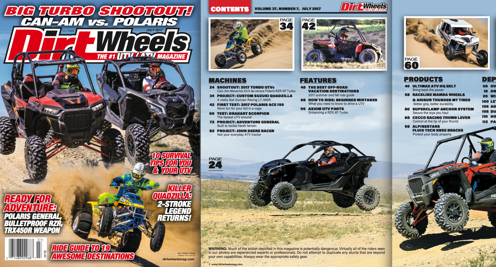 MAKE SURE YOU GET THE JULY ISSUE!   Dirt Wheels Magazine