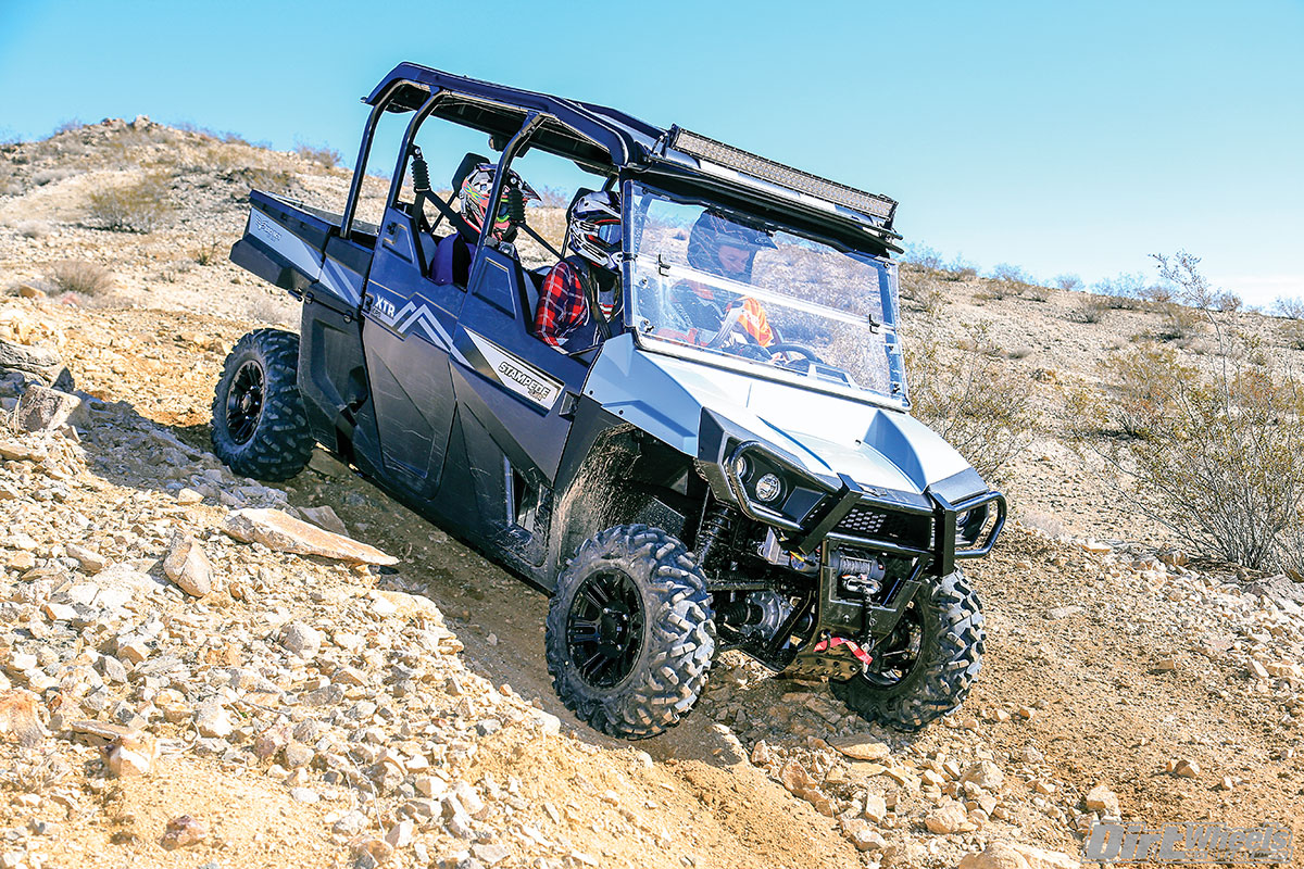 At the speeds typical of a sporty utility machine, the Bad Boy XTR EPS+ has a very smooth ride. Playing with tire pressure can get a ride feel where you don't even notice the rocks.