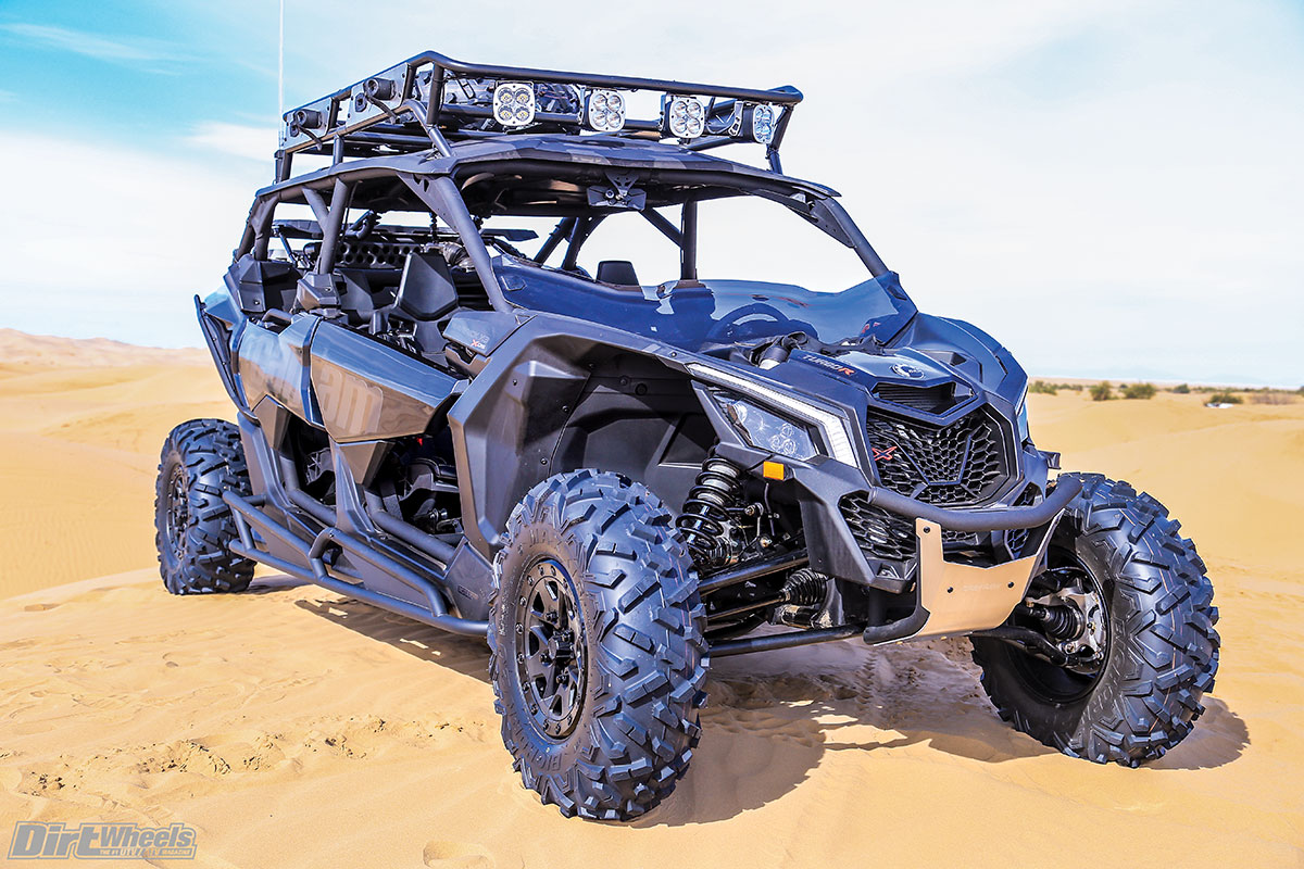This x3 max was outfitted with can am s own pac accessories front and rear