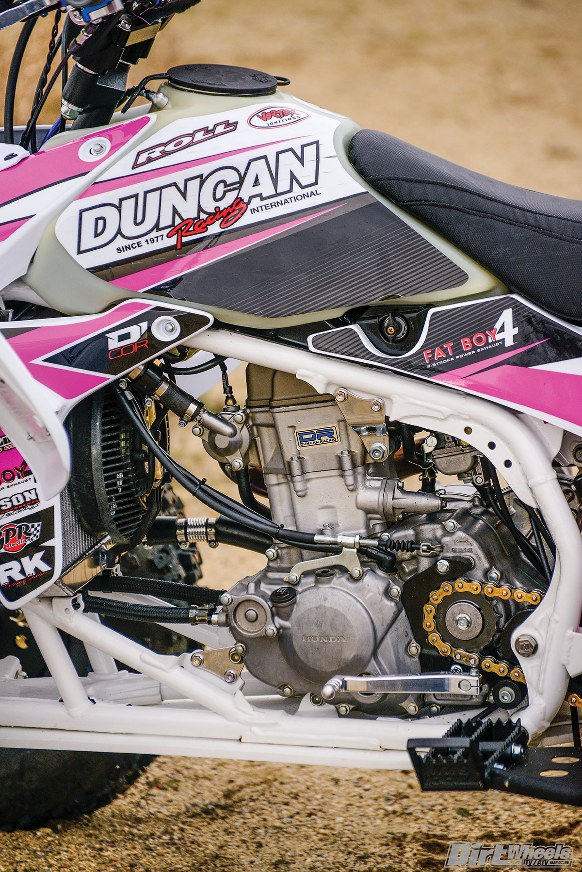 Duncan Racing built this engine up to 470cc and did extensive work to the cylinder head. BITD doesn't have a production rule, so going with a big-bore setup is legal.
