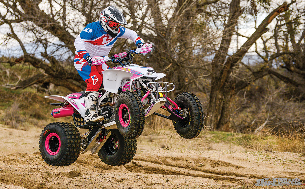 Even though it's heavier than an MX-built quad, the Simmons brothers' TRX feels very nimble in the air.
