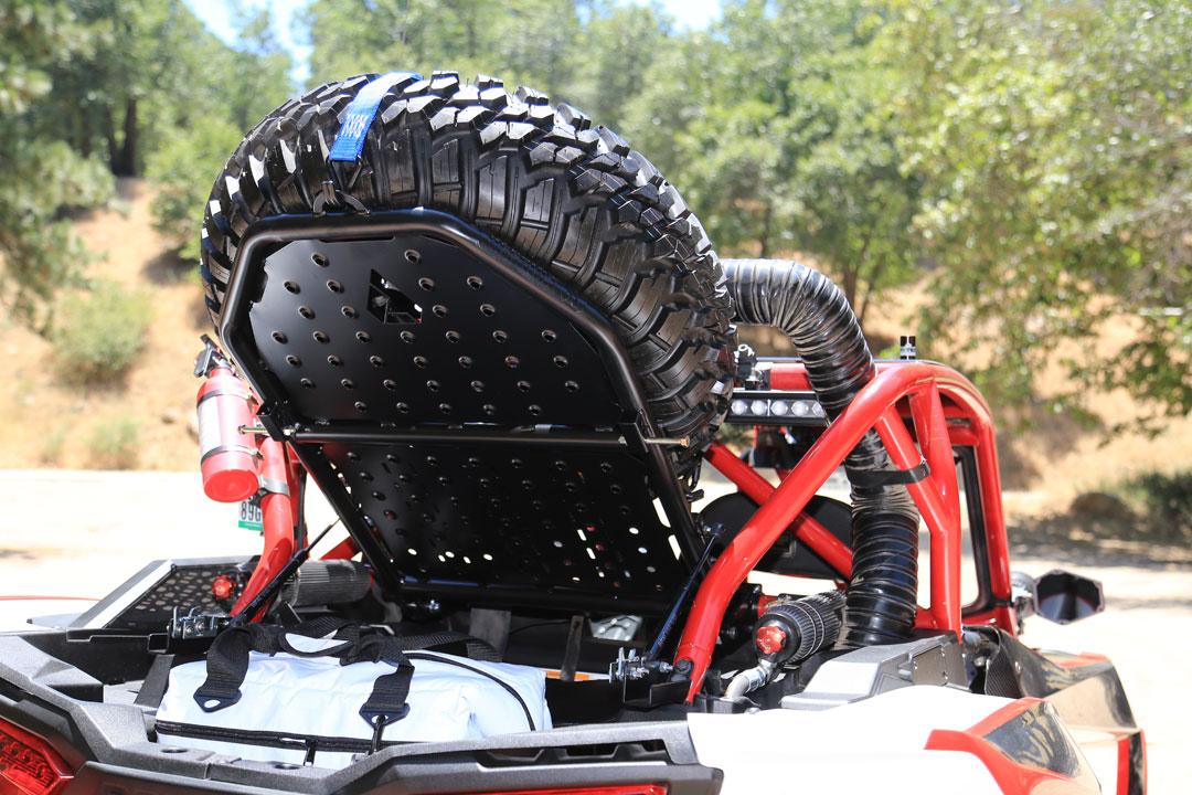PRODUCT: ASSAULT INDUSTRIES SPARE TIRE RACK   Dirt Wheels Magazine