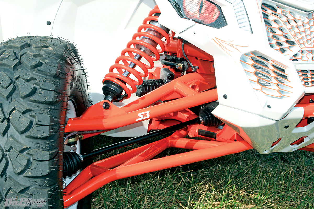 Midwest installed S3 Powersports' heavy-duty A-arms, a bulkhead, bushings and a front gusset kit to make the front suspension components a lot stronger and less susceptible to damage.