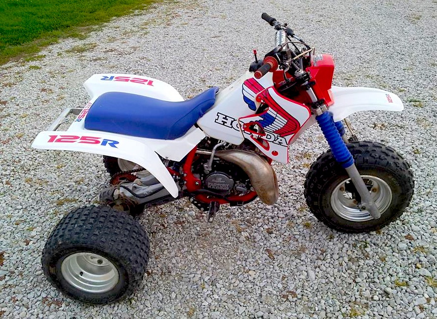 Honda Atc125r This Is What You Got After Putting A Cr125 Motor Into An Atc200x Frame However 125cc 3 Wheelers Never Caught On