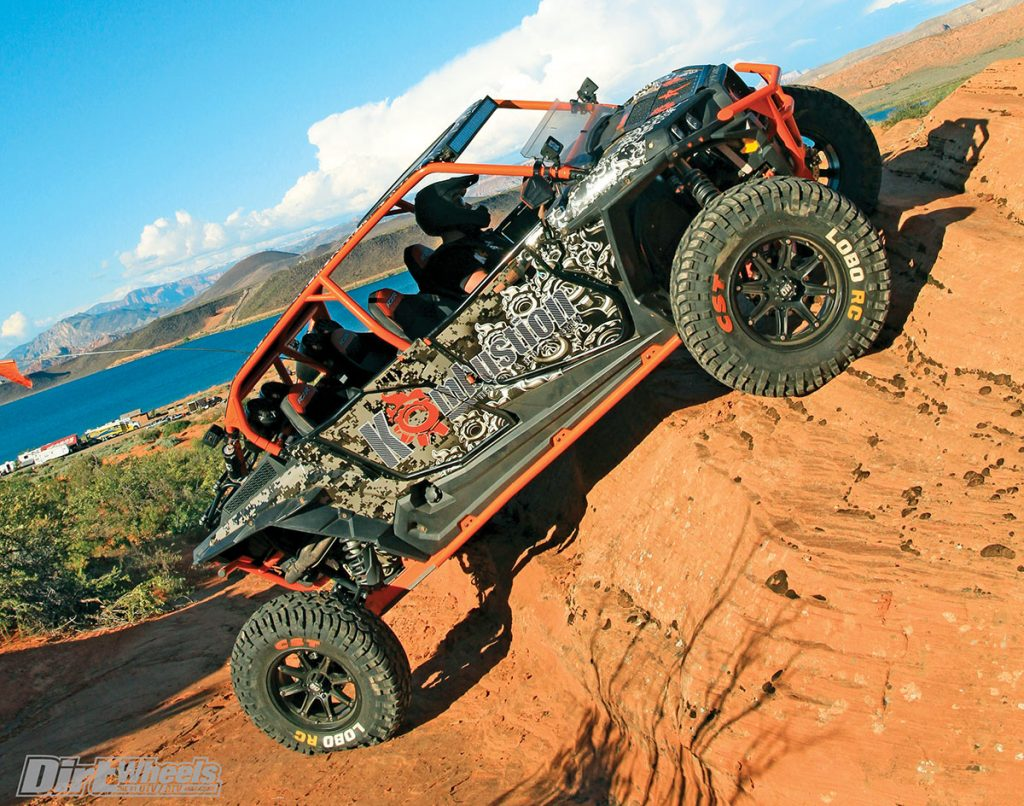 Each UTV has a specified range of correct air pressure for best handling and safety. Sand or slow rock crawling allows you to go lower, and stiffer desert tires might, too, but stay within the guidelines.