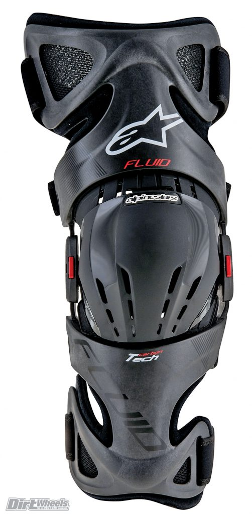The Fluid Tech knee brace is lightweight due to carbon composite materials and is comfortable with ample ventilation.