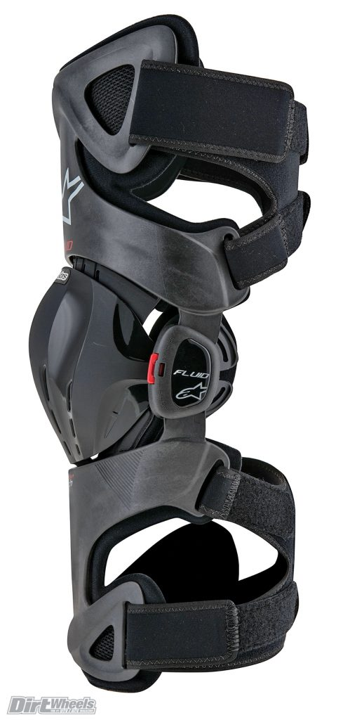 The brace is very adjustable to ensure a proper fit for any rider. You can set how much the brace can bend forward with changeable spacers in the hinge system.