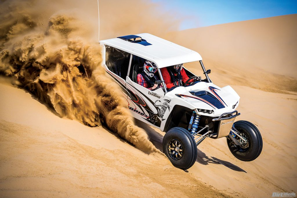 You have to love any machine that throws this much sand! The wide stance, massive paddle tires and giant power output make this a machine to remember.