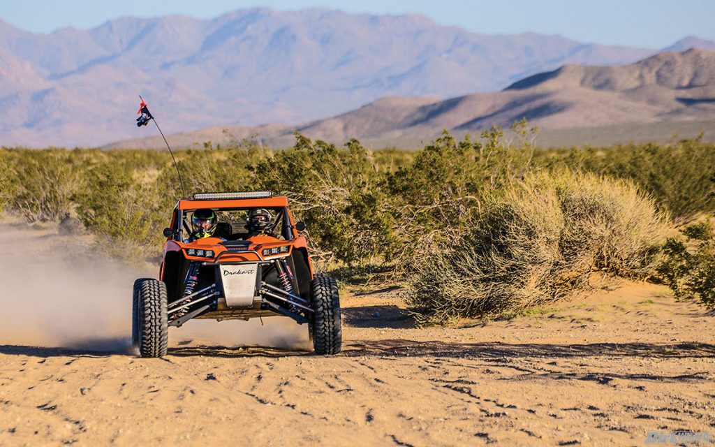 We tested the machine in the dunes and in rough desert. If anything, it was even more impressive in the desert. It was a little trickier to get moving with the massive paddle tires in the dunes.