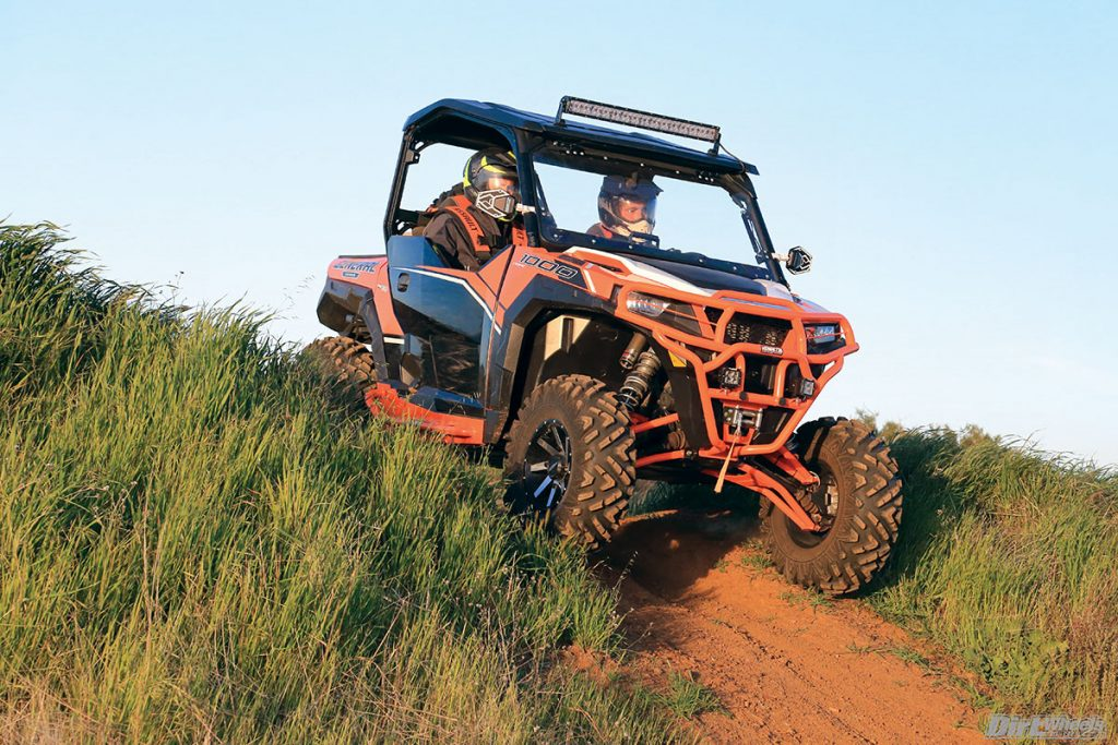 The bigger tires and High Lifter high-clearance heavy-duty control arms allowed the General to have higher ground clearance and not get caught up as easily on rocks, fallen trees and trail debris.