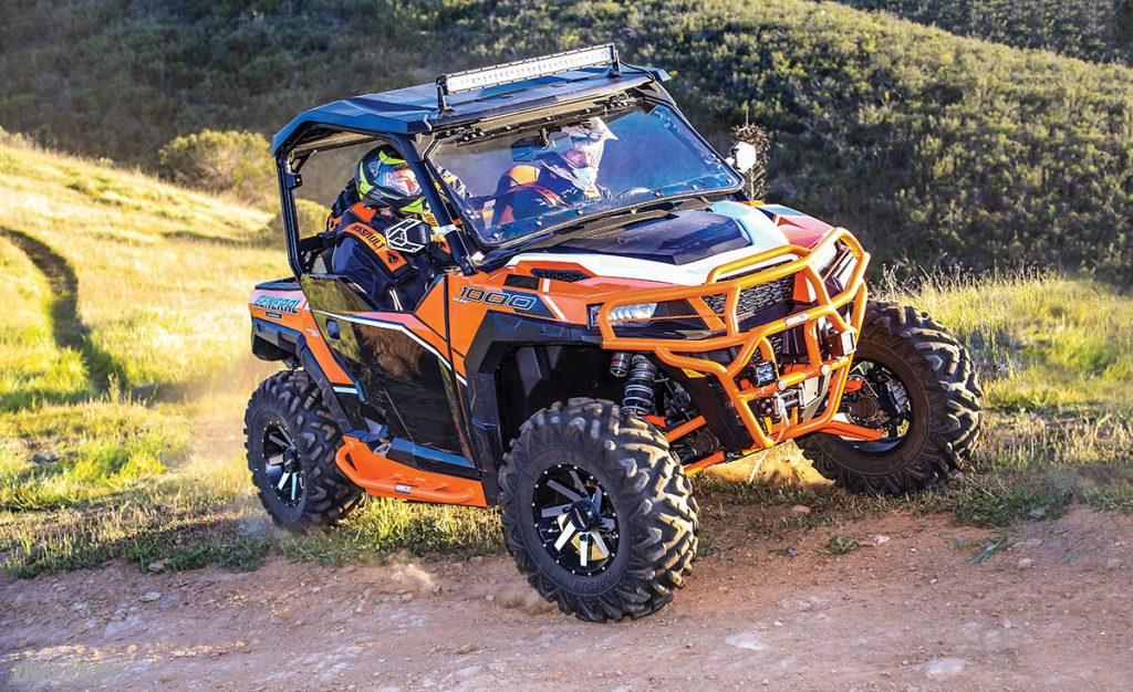 The 30-inch-tall Arisun Bruiser tires proved to be a bit too large for this build; a 28-inch tire would work better for this machine.