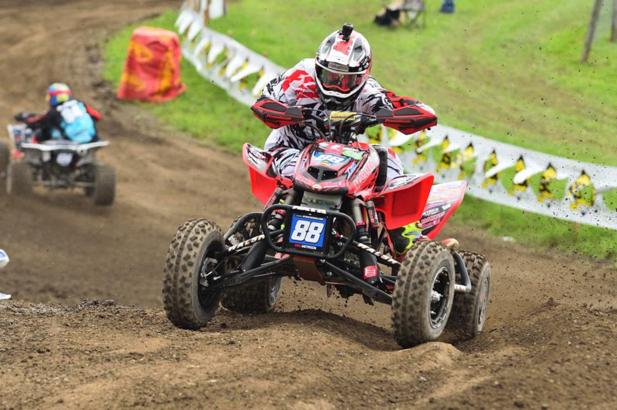 For the first time this season joel hetrick will sport the red number plate at redbud