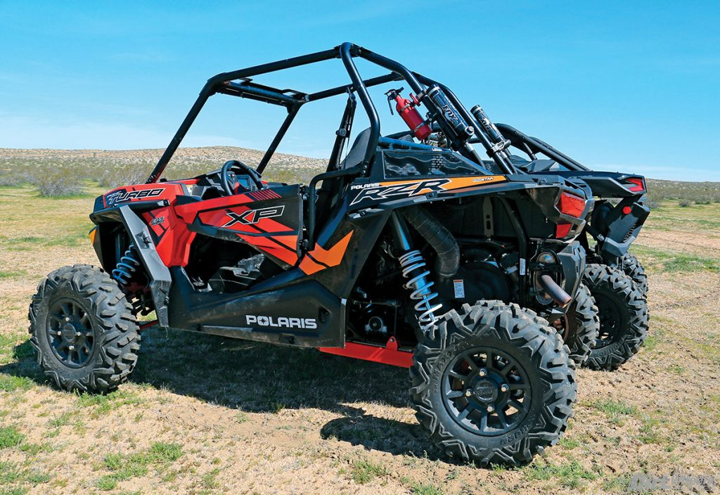 The Can-Am Maverick X3 X ds has a longer wheelbase over the Polaris RZR XP Turbo by 12 inches. This makes it smoother at higher speeds.
