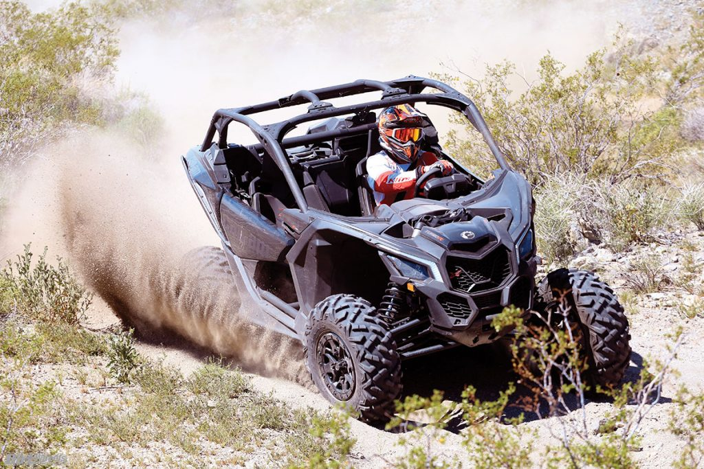 We can dub the Can-Am to be the corner master in this shootout. The machine didn't have as much body roll as the RZR, and it felt more stable in the turns.