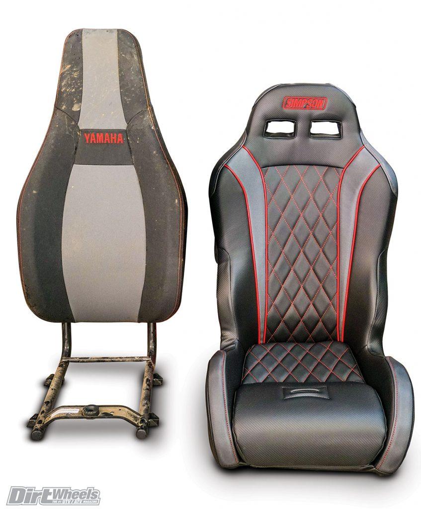 simpson vortex suspension seat five point race harness dirt wheels magazine. Black Bedroom Furniture Sets. Home Design Ideas