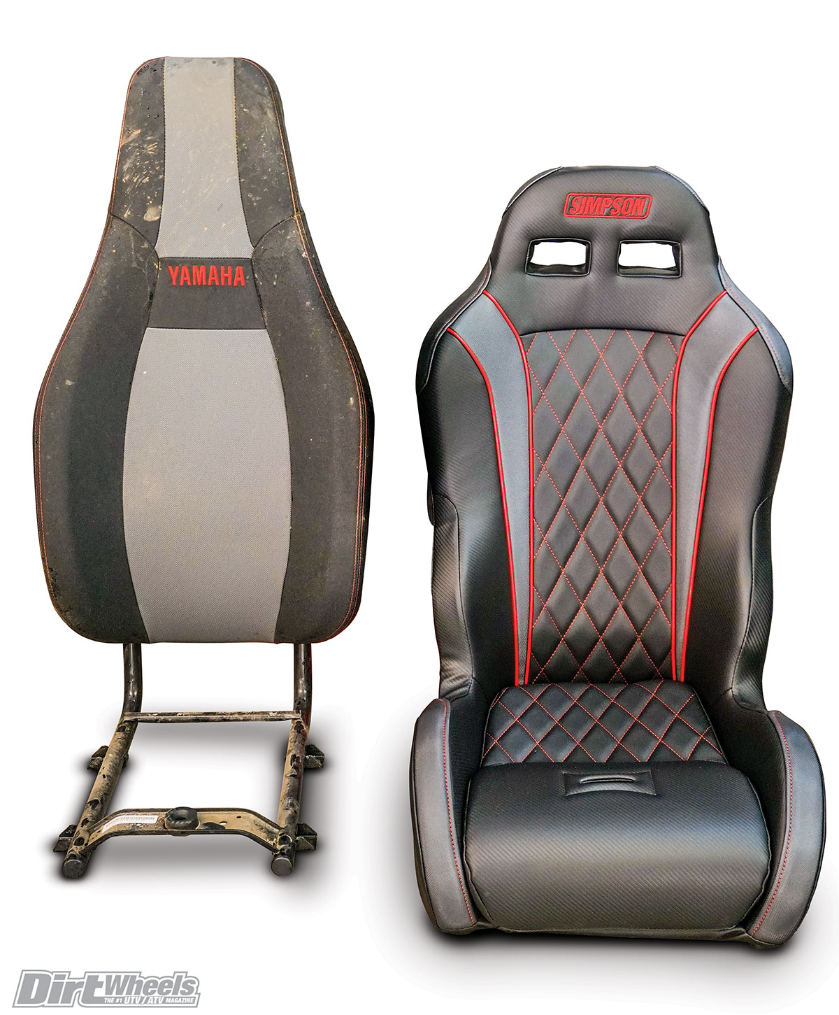 Here You Can See The Difference In Seat Designs OEM Is Much Taller And It Weighed More Than Vortex Biggest Between Two
