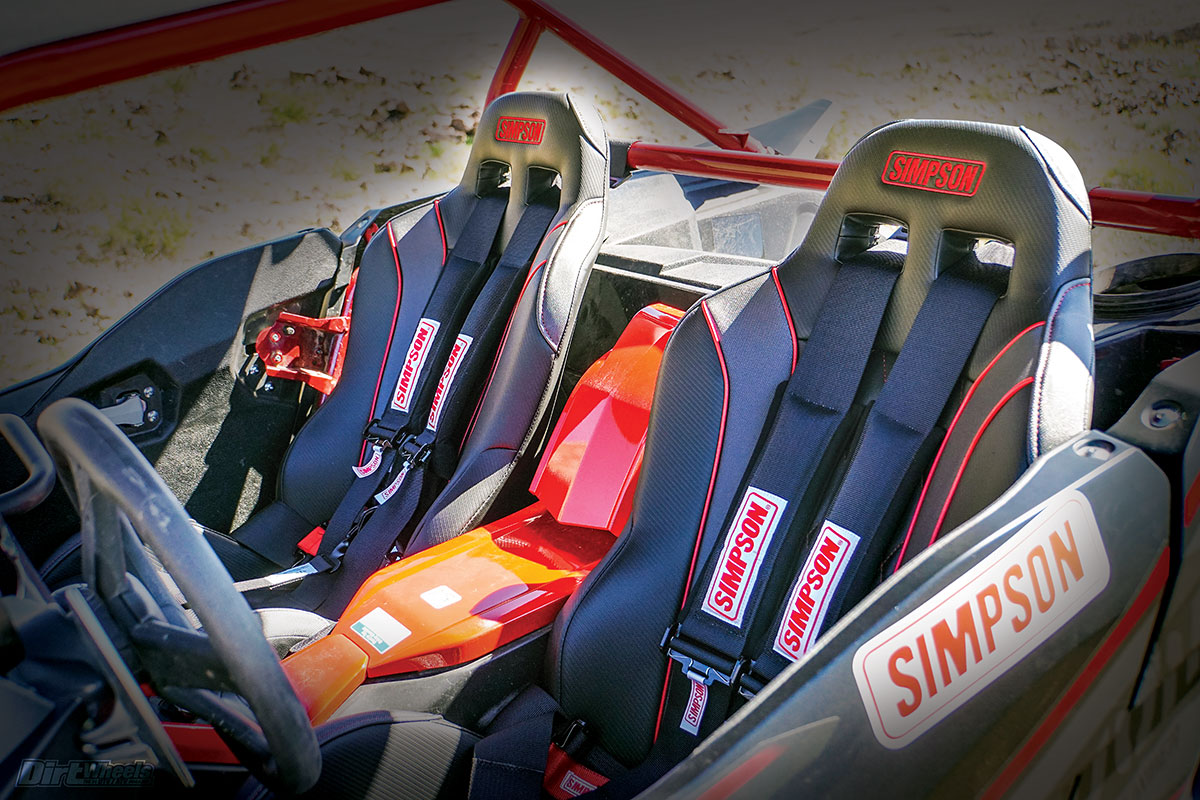 SIMPSON VORTEX SUSPENSION SEAT FIVE POINT RACE HARNESS