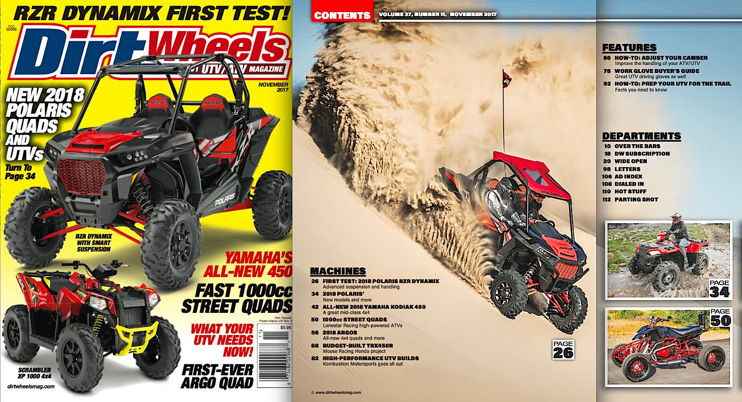 NEW NOVEMBER ISSUE IS HERE!   Dirt Wheels Magazine