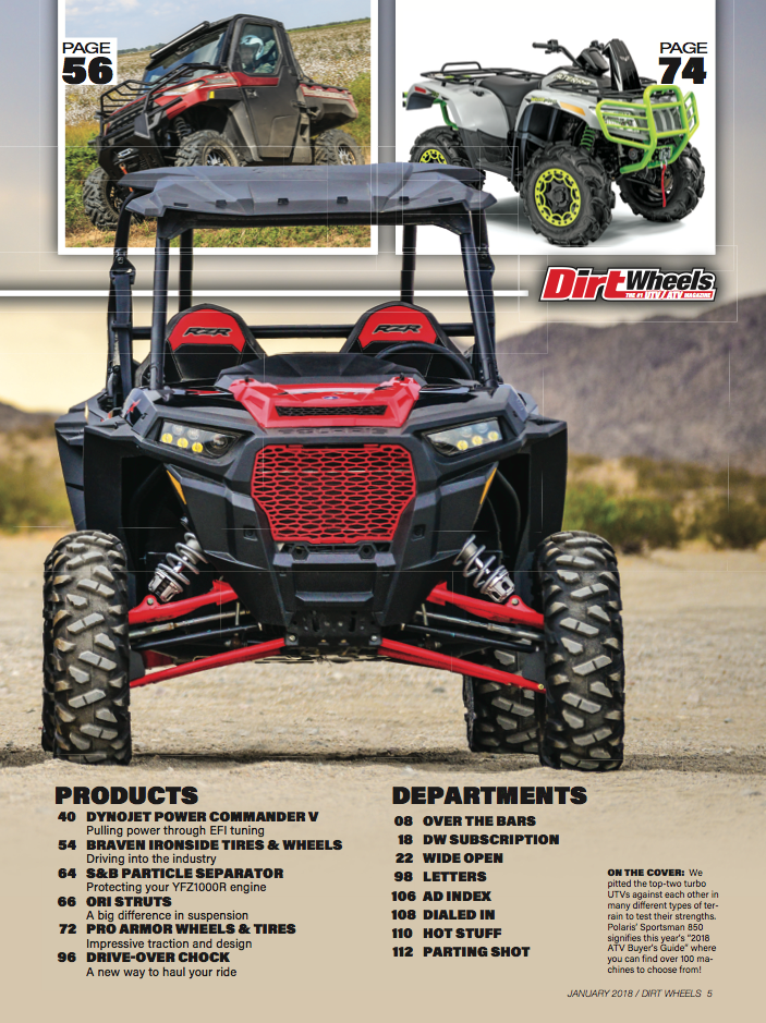 NEW JANUARY 2018 ISSUE IS HERE! | Dirt Wheels Magazine